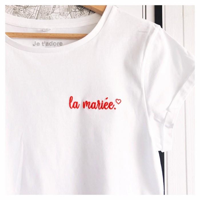 t-shirt evjf brode la mariee
